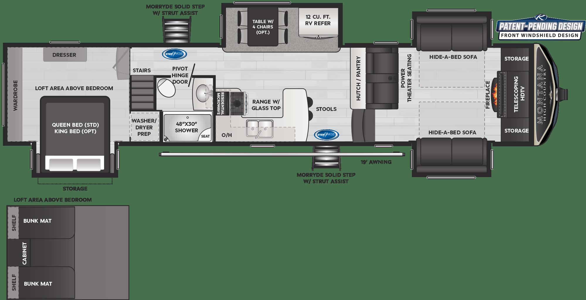 Floor Plan: 2021 Montana High Country 376FL