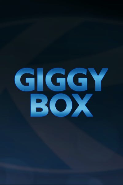 """the words """"Giggy Box"""" on a background featuring the Keystone RV logo"""