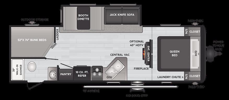 Floorplan of RV model 272BH