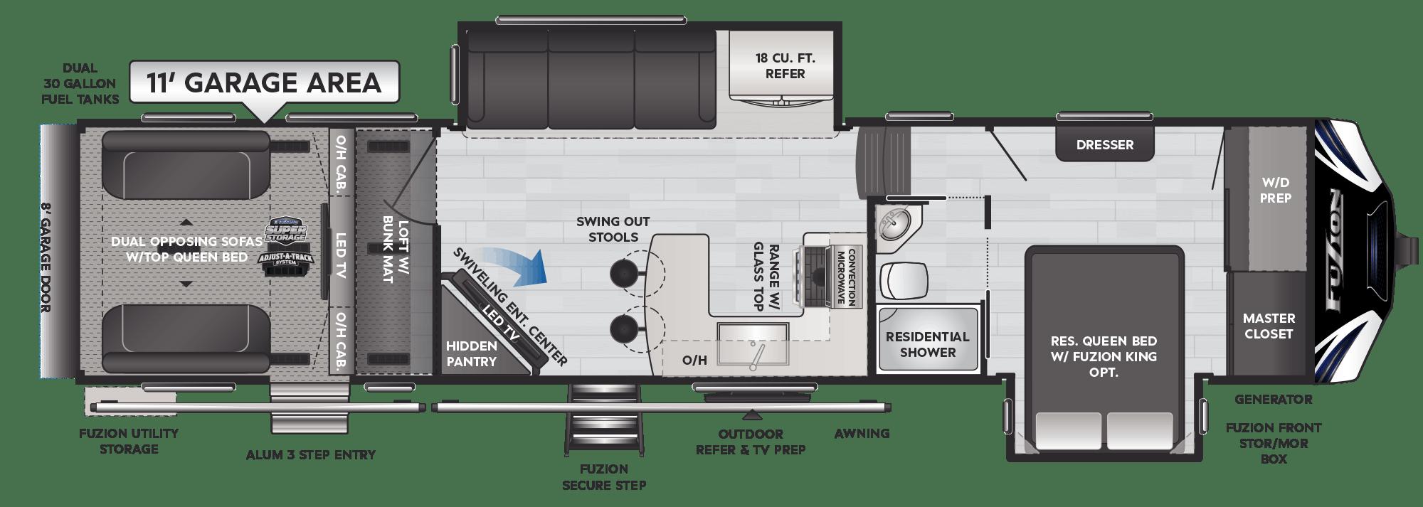 Floor Plan: 2021 Fuzion 369