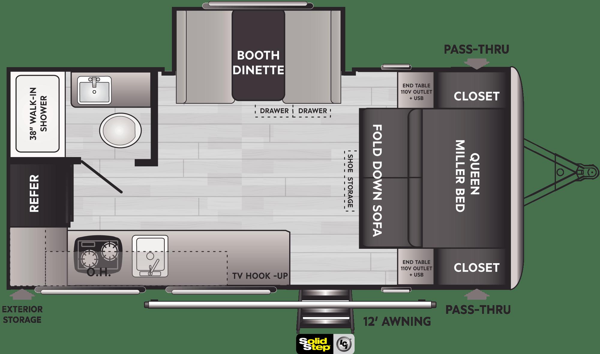 Springdale Comfort Travel Trailers - Model 1740RK Floorplan - Keystone RV   Springdale Rv Wiring Diagram      Keystone RV
