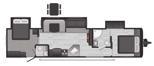 Hideout Comfort Travel Trailers Model 38fqts Floorplan Keystone Rv