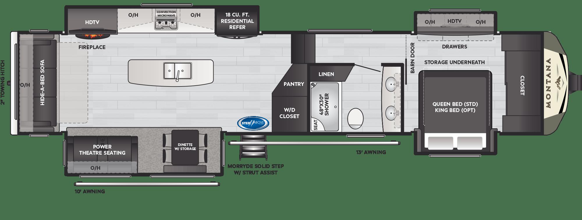 2021 Montana 3781RL floorplan drawing