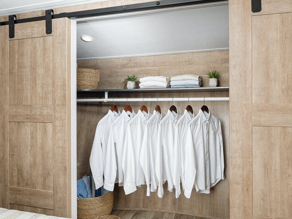 Arcadia's master bedroom closet
