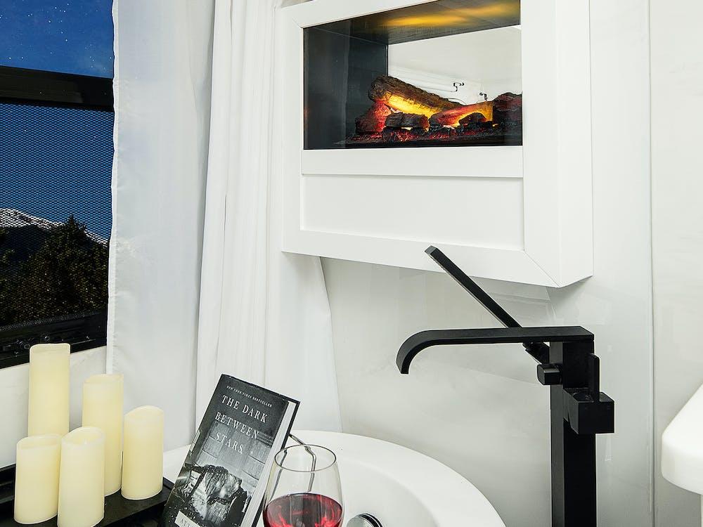 The Ultimate Montana bathroom fireplace