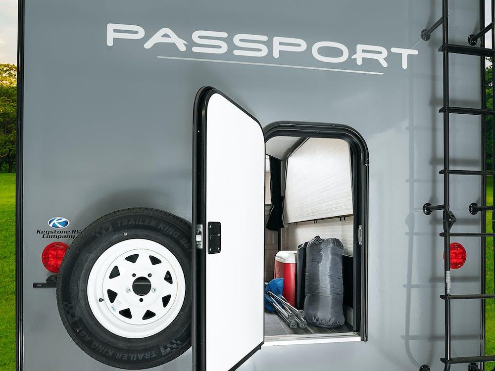 Keystone Passport exterior bike door