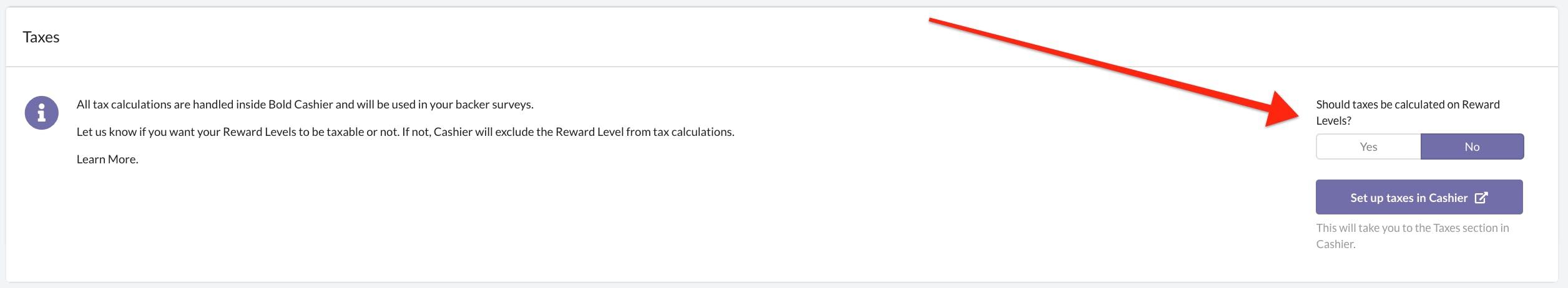 Kickbooster Pledge Manager - taxes on rewards