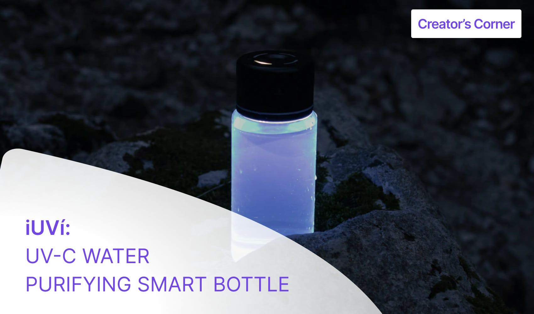 iUVì Water Purifying Smart Bottle