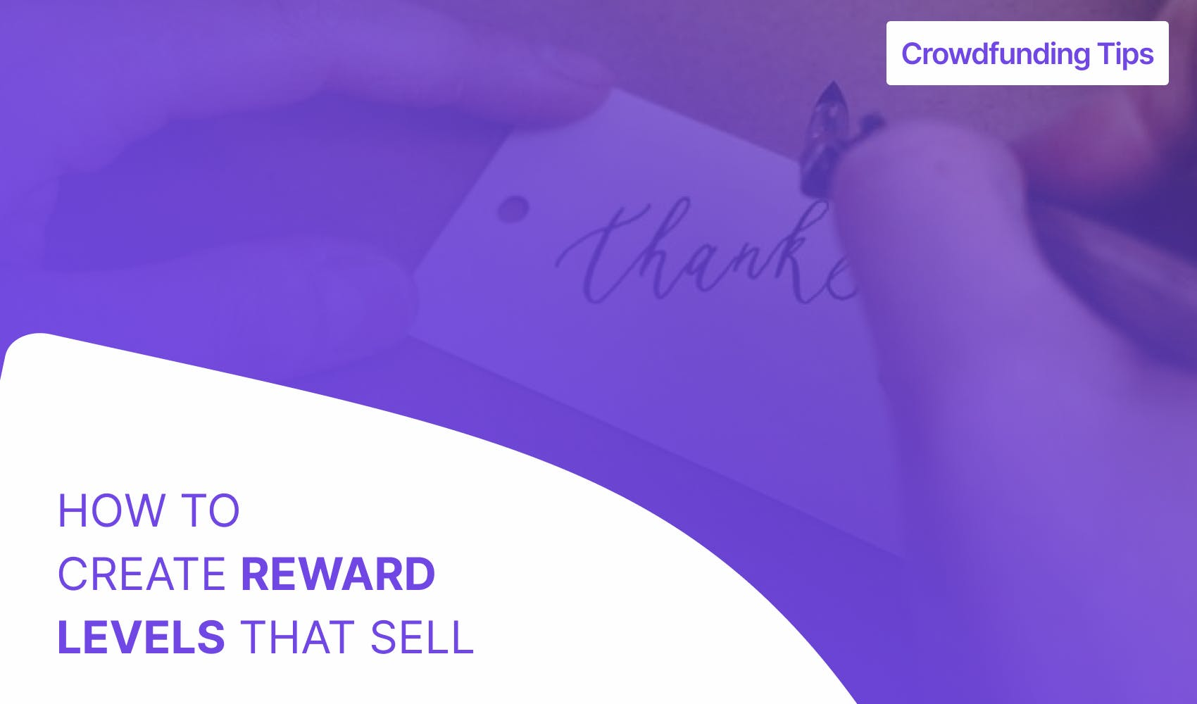 How to create reward levels that sell