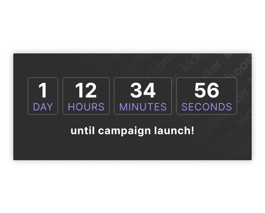 Kickbooster countdown timer