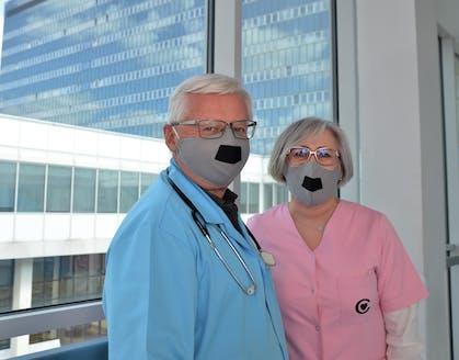 dr Marek Migdał (dyrektor IPCZD) oraz mgr Anna Nagadowska (z-ca dyrektora ds.  Pielegniarstwa),