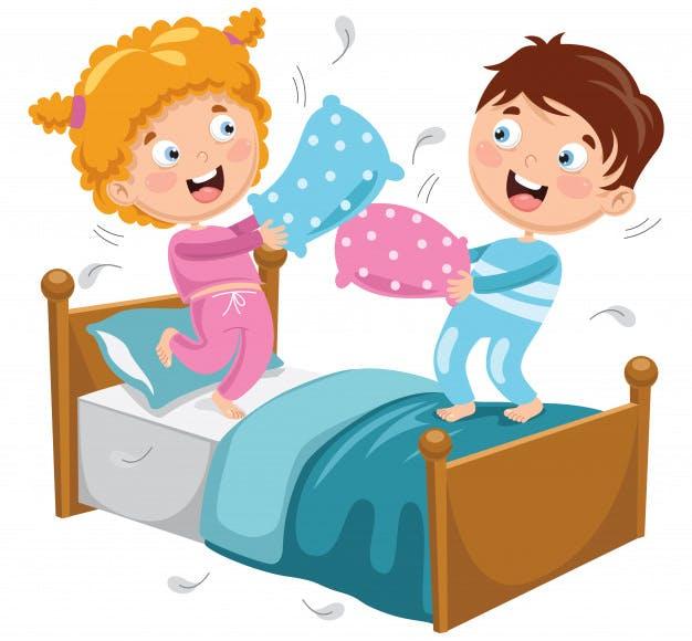 игра для детей с подушками