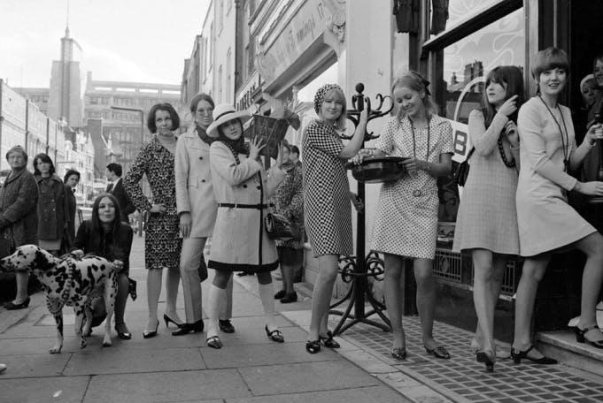 Biba boutique, Kensington, London, 1966, by Mirrorpix