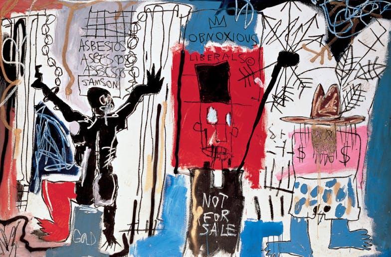 Obnoxious Liberals, 1982, by Jean-Michel Basquiat