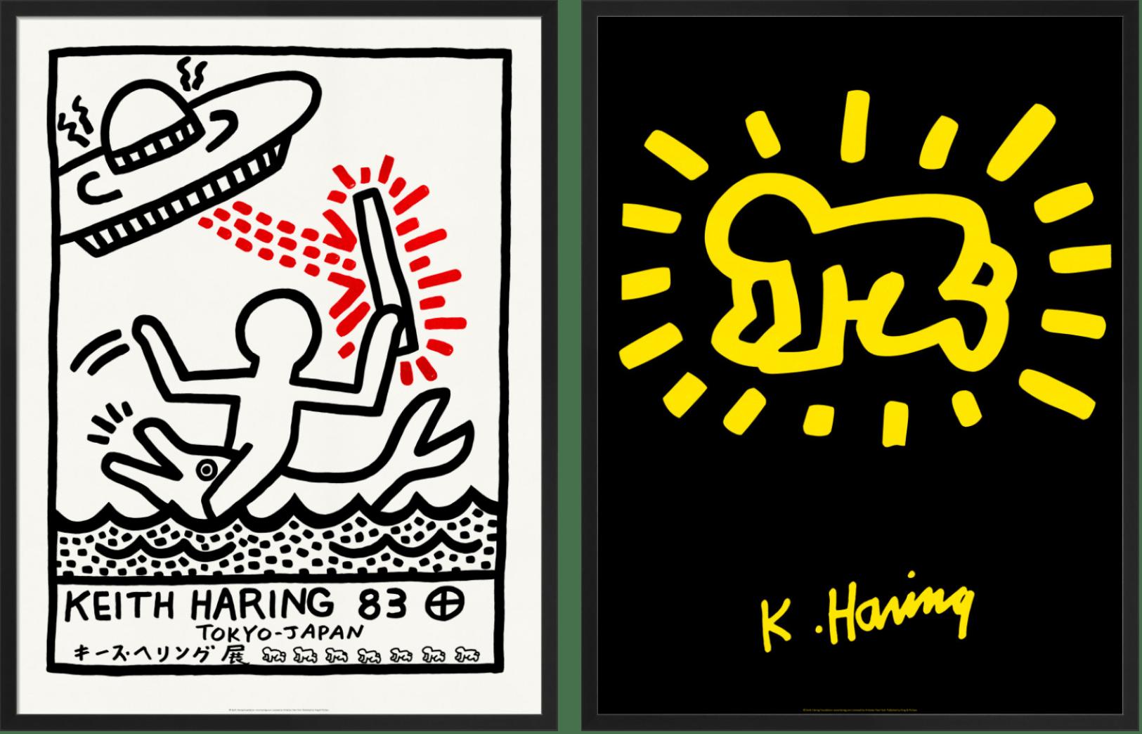 'Keith Haring 1983' and 'Keith Haring 1986', © Keith Haring Foundation, licensed by Artestar New York