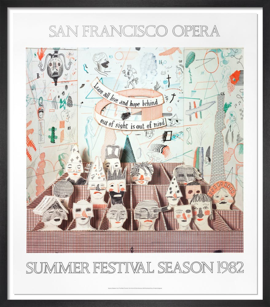 San Francisco Opera, 1982, by David Hockney