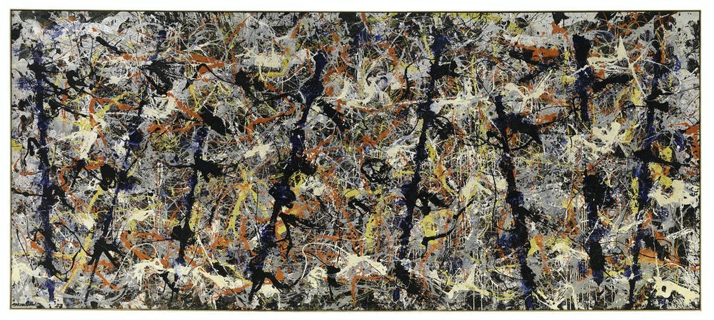 'Blue Poles, 1952', (CC King & McGaw) Abstract expressionist painter Jackson Pollock's action paintings influenced Keith Haring