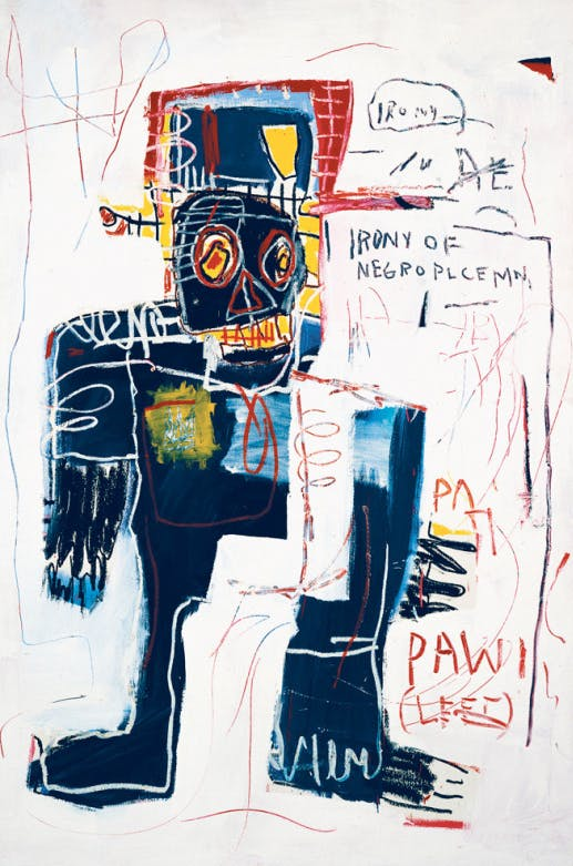 The Irony of a Negro Policeman, 1981, by Jean-Michel Basquiat