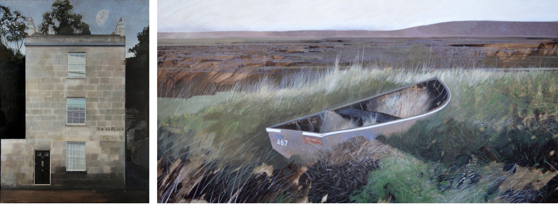 'Angel Place', and Salthouse Wreck', by Andrew Lansley
