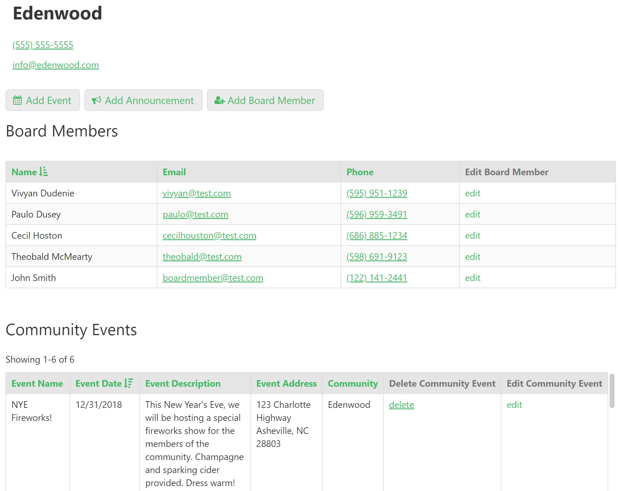 The board member portal makes it easy for the board to see the happenings of their community at a glance.
