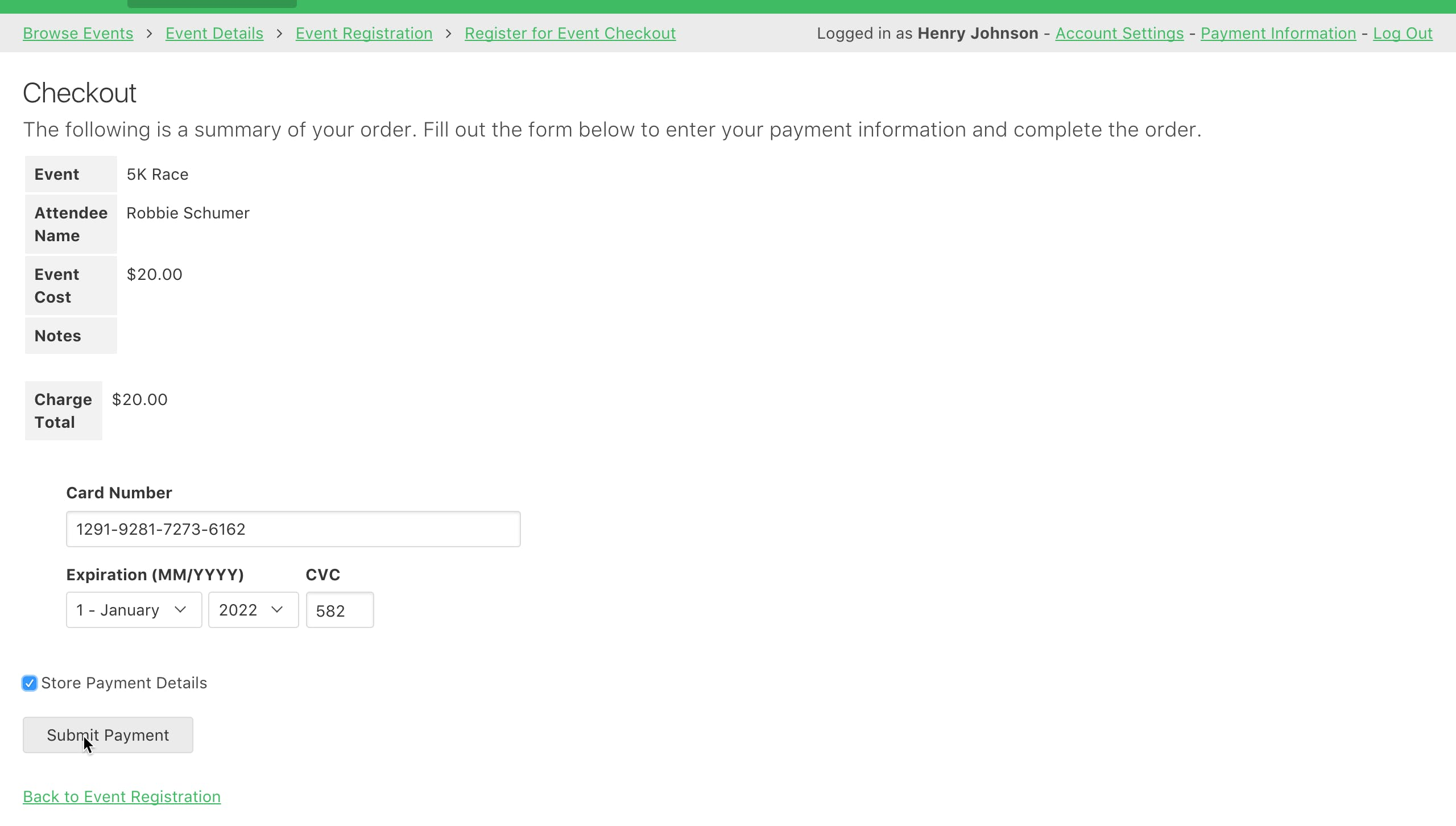 Accept payments directly in your app. Users can store payment details for easier future payments.