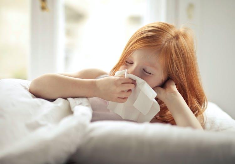 Bild på sjukt barn