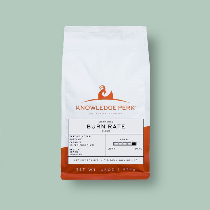 signature Burn Rate blended coffee