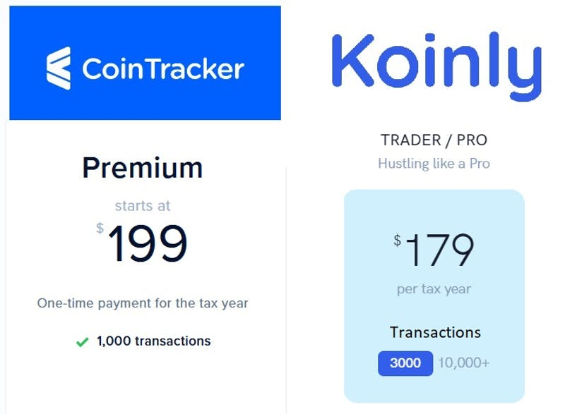Crypto trader features of Koinly