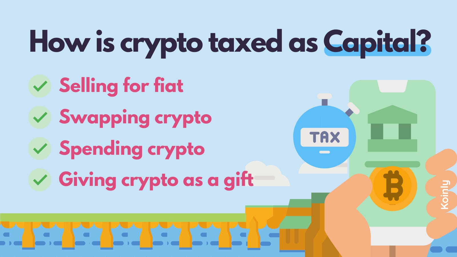 Cryptocurrency gains can be treated as capital gains tax