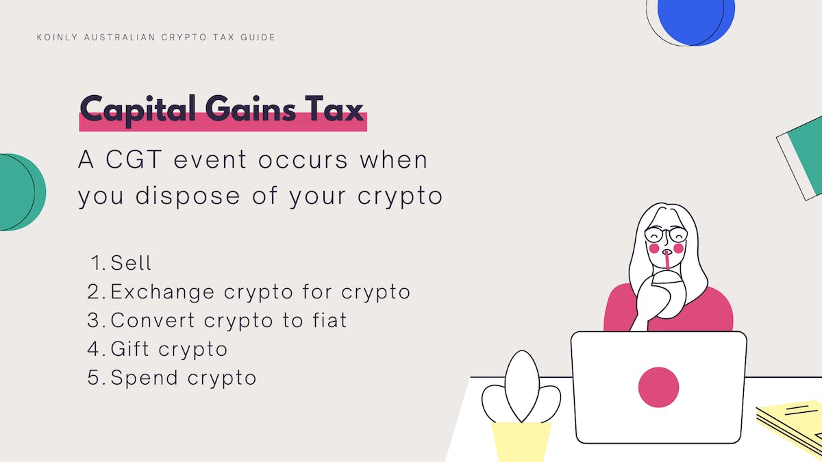 There are 5 ways you could pay capital gains tax on crypto in Australia