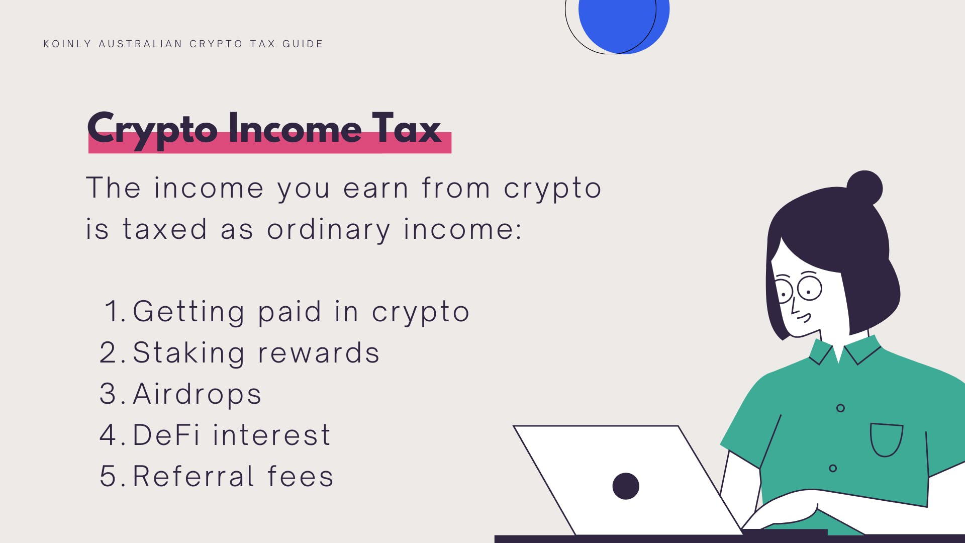 Australian crypto can be taxes as Income Tax in certain situations
