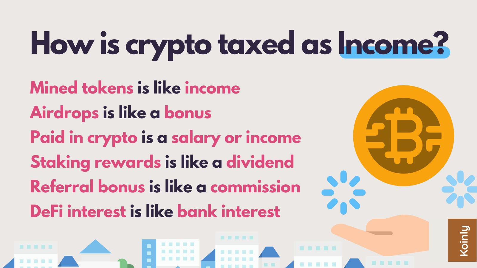 Cryptocurrency gains can be treated as income tax