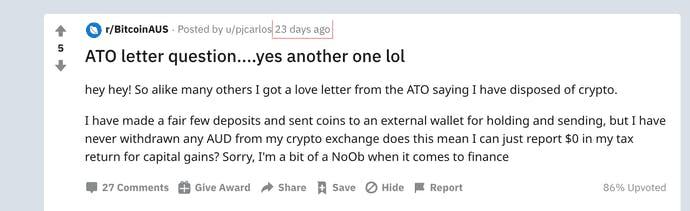 ATO letter in Reddit