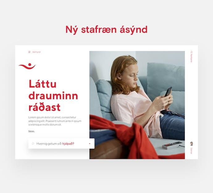 skjáskot af vef íslandsbanka