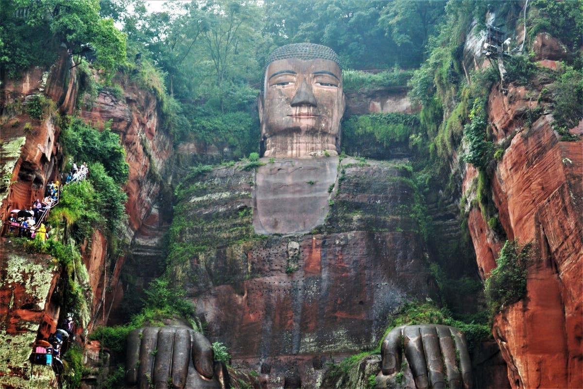 Búddastyttan í Leshan 乐山