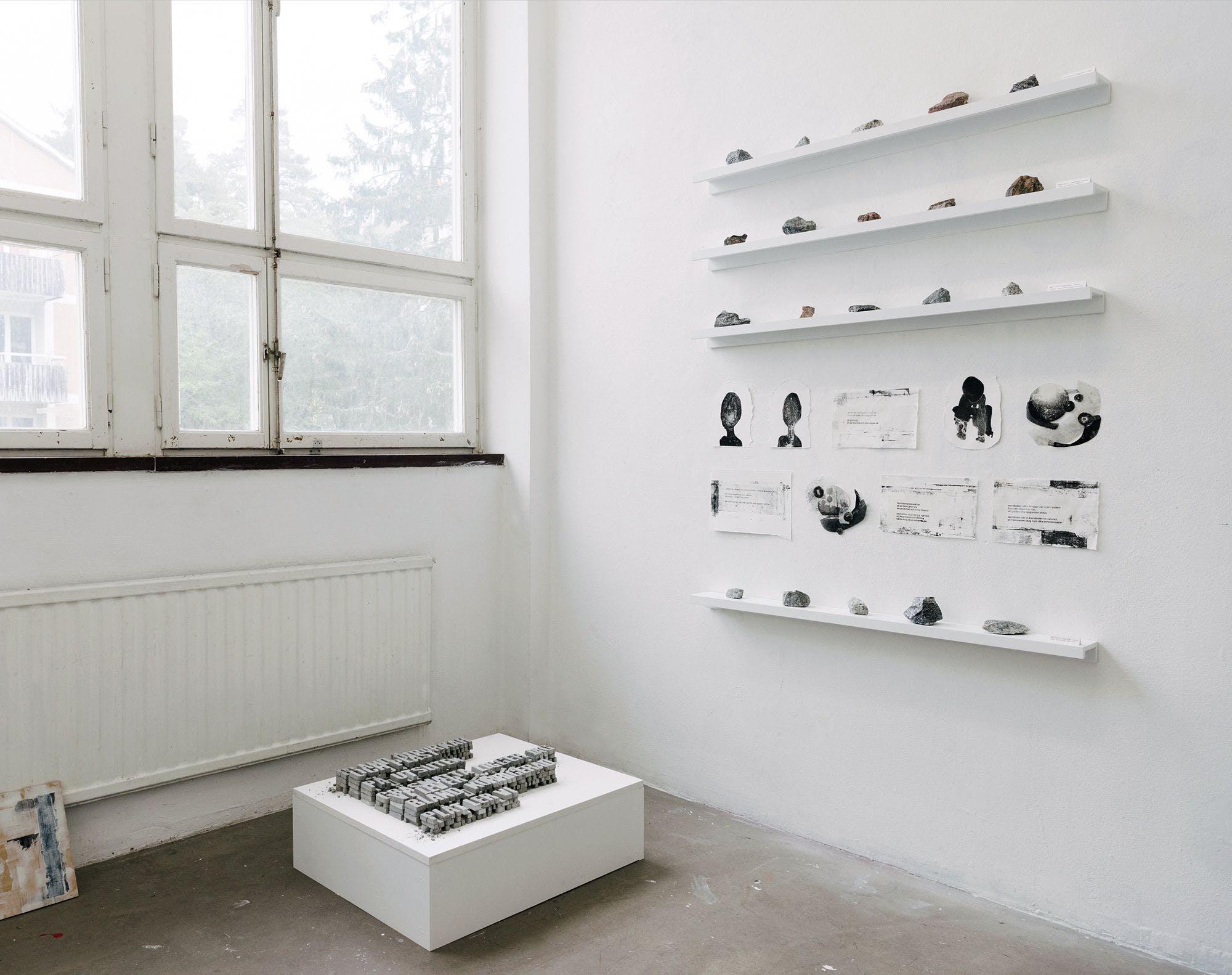 Åsa Polfjärd's exhibition Oläkbara brott 2021. Photo: Mira Åkerman