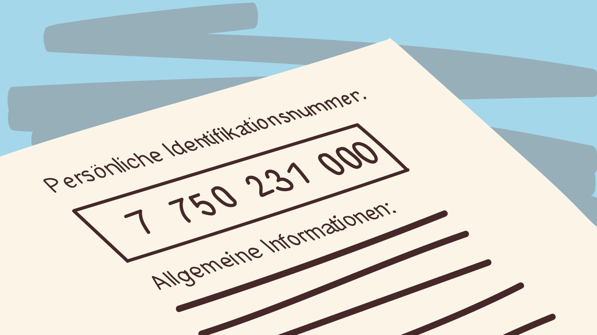 Persönliche Steueridentifikationsnummer des Finanzamts.