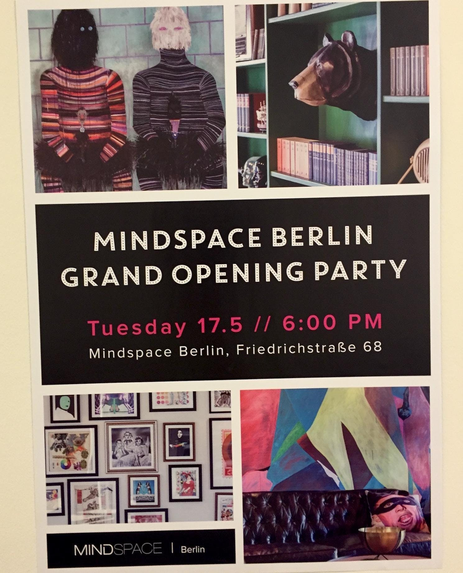 Mindspace opening party poster