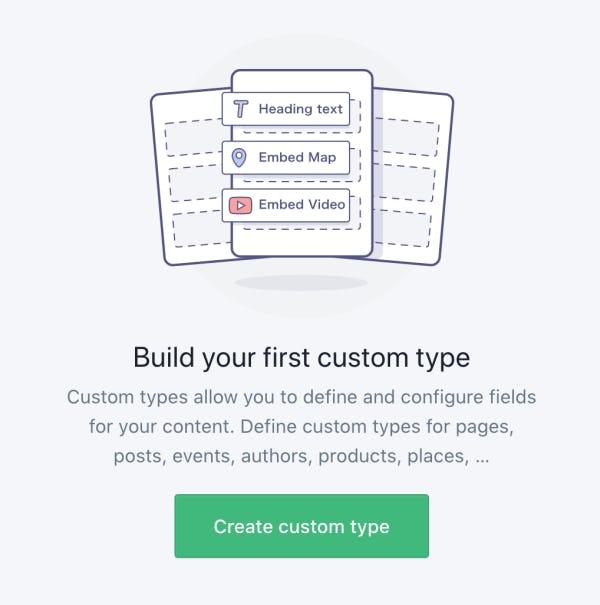 Create custom typeのボタンを押下