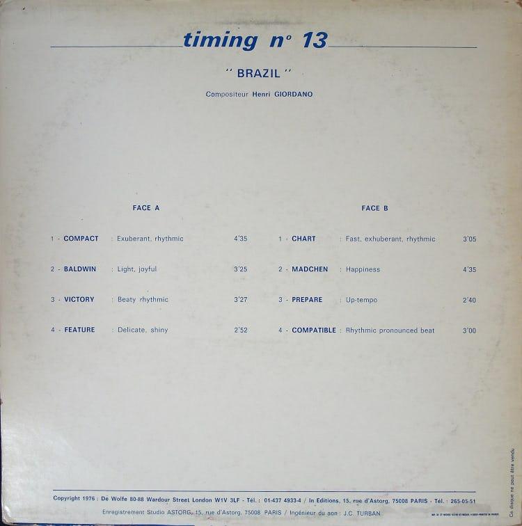 Timing No.13 バック