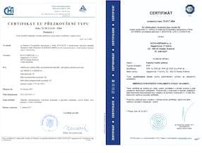Certifikáty ČMI a TÜV SÜD Czech