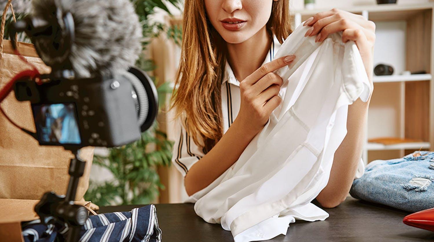 Decorative: student filming garment