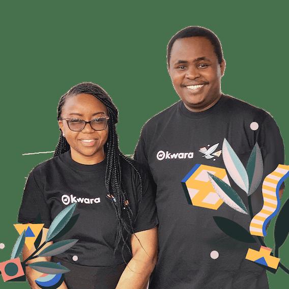 Tabitha Marangu, Customer Success Manager at Kwara on left, and John Karanja, Customer Account Manager at Kwara both smiling