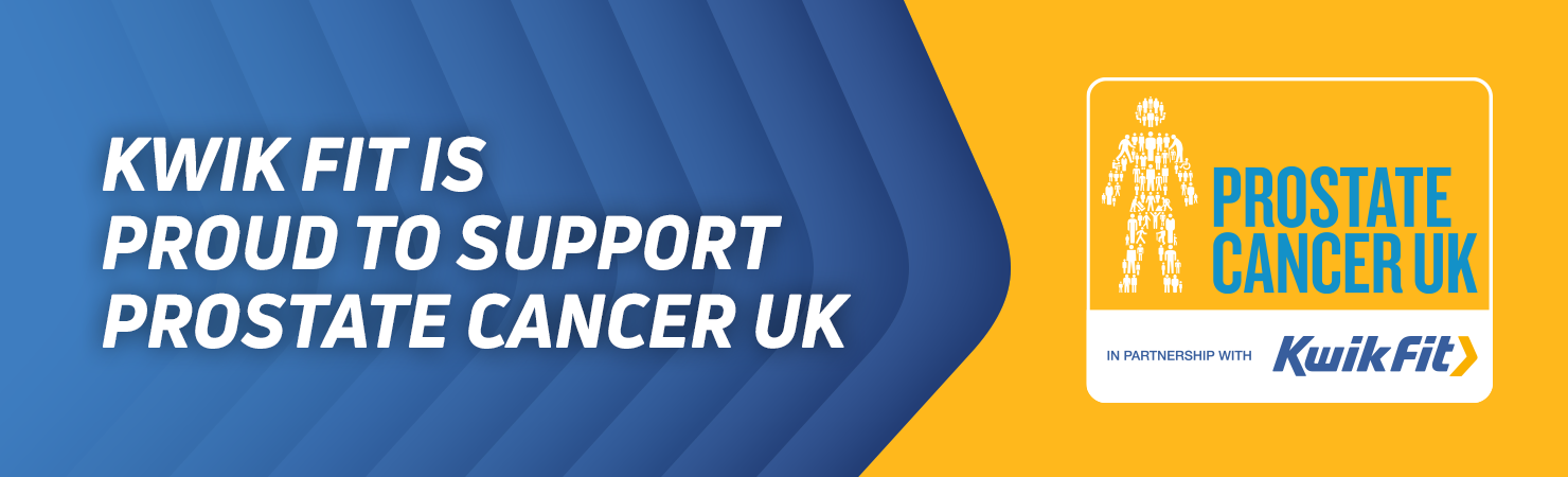 Kwikfit Prostate Cancer UK banner