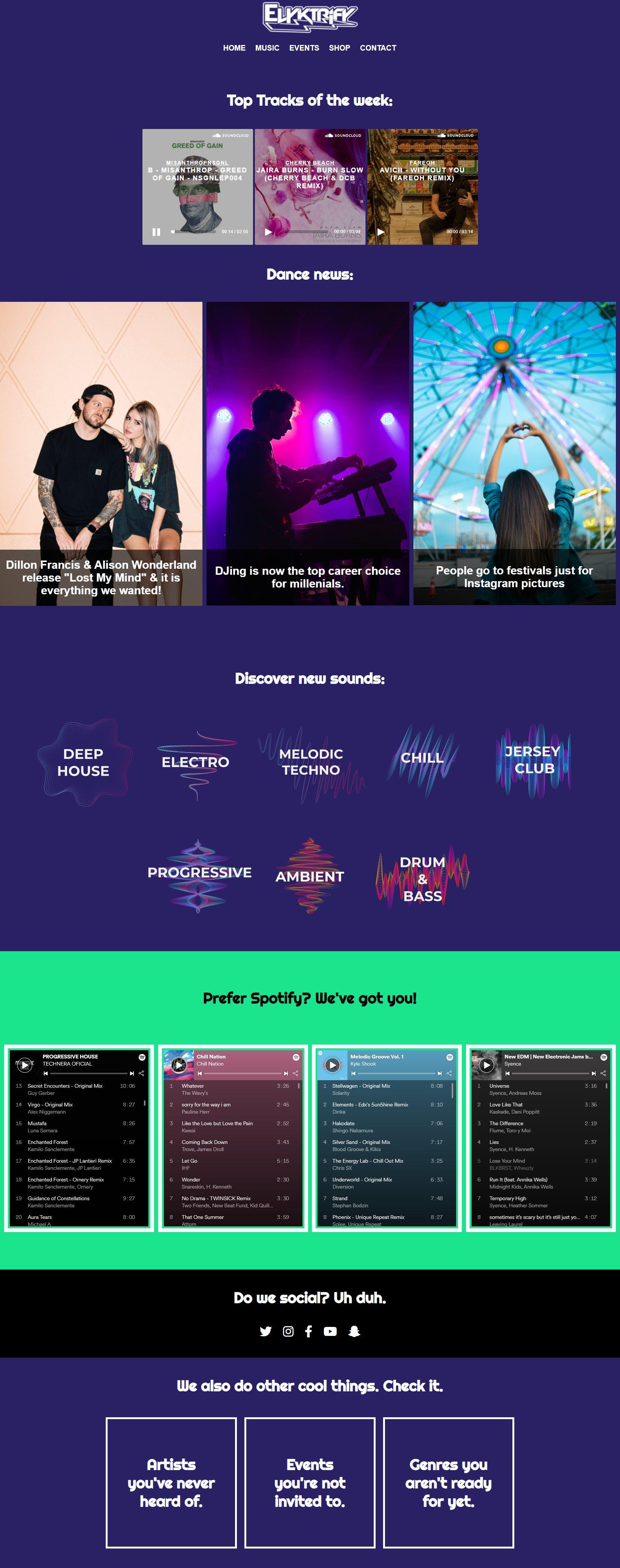 Full-length image of a website