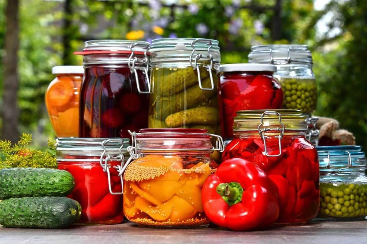 Conserves de légumes au naturel