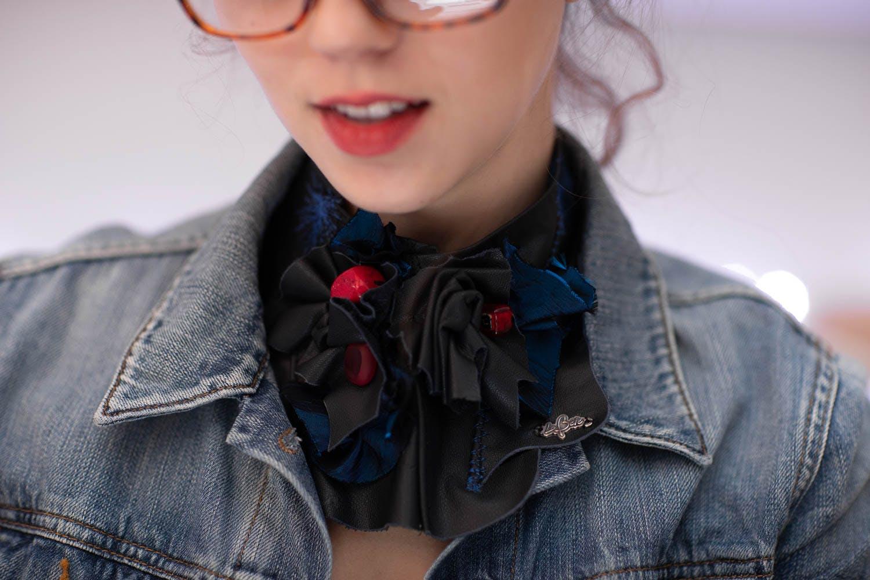 Necklace - leather - La Bete
