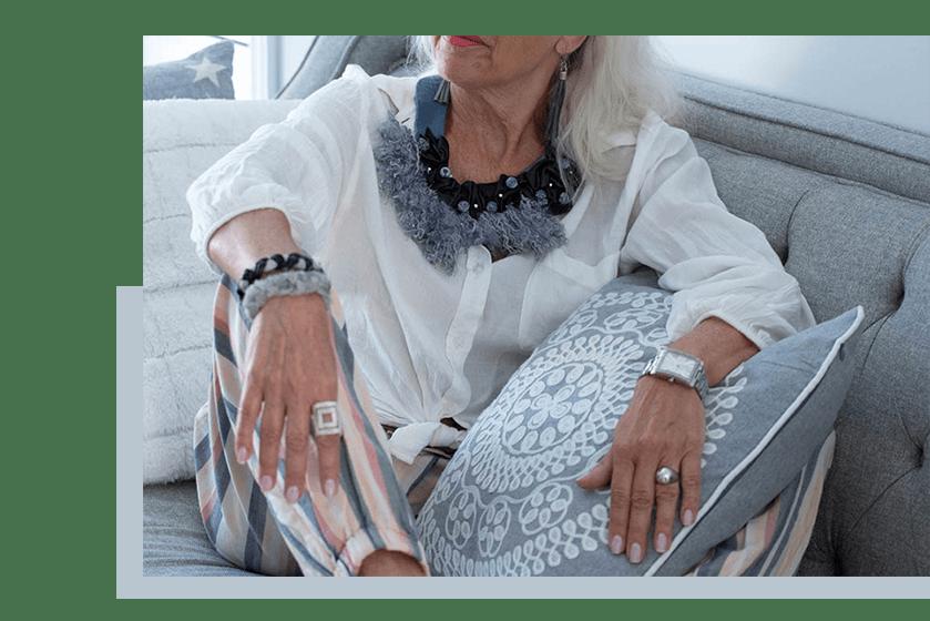 Necklace - Grey - La Bete