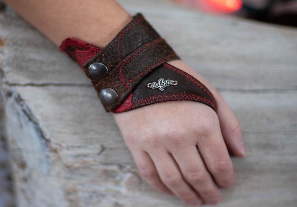 Bracelet - Leather - Red - La Bete