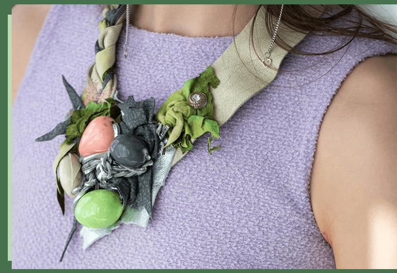 Necklace - Green - La bete